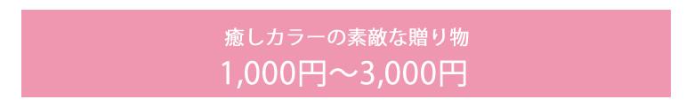 1000円〜3000円